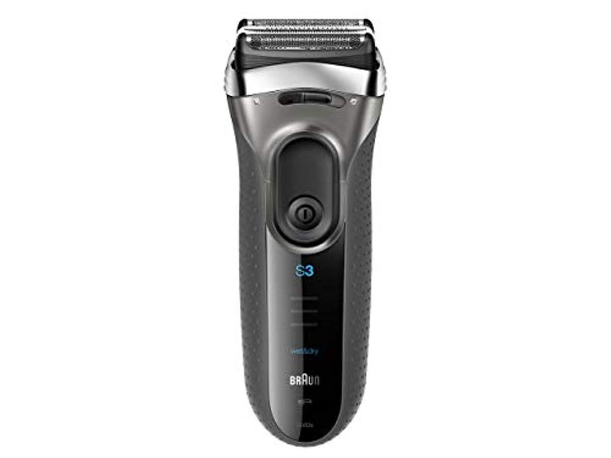 パキスタン海嶺優れましたブラウン メンズ電気シェーバー シリーズ3 3080s-S-JA 3枚刃 水洗い/お風呂剃り可 シルバー