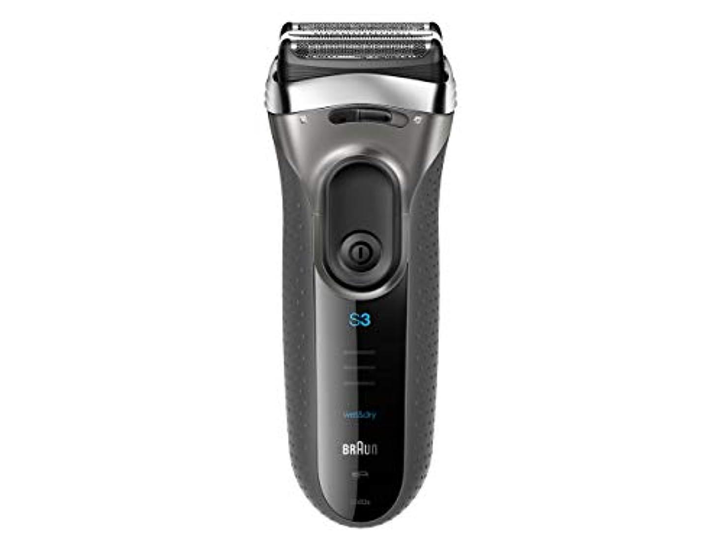 アクティブおとうさんヒゲクジラブラウン メンズ電気シェーバー シリーズ3 3080s-S-JA 3枚刃 水洗い/お風呂剃り可 シルバー