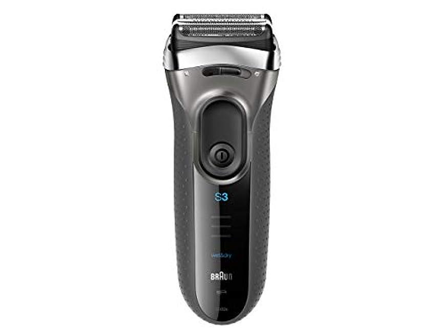 スノーケルテンション妨げるブラウン メンズ電気シェーバー シリーズ3 3080s-S-JA 3枚刃 水洗い/お風呂剃り可 シルバー
