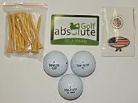 48top-fliteリサイクルBalls withメッシュバッグand Free Tee 'sとボーナス磁気アメリカ国旗ゴルフボールマーカー/帽子クリップ