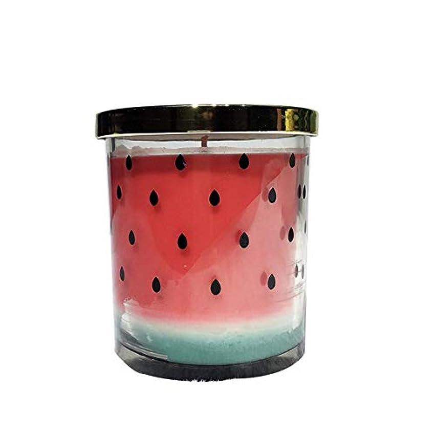 フットボールマイクロ大脳Ztian 天然エッセンシャルオイルフルーツの香りキャンドルウェディングホテルギフト (色 : Watermelon)
