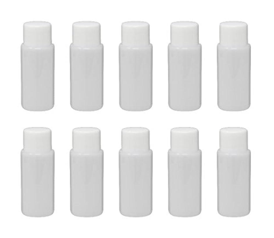 法律休眠輝度Aimax【P-15WC-7-10】日本製 詰め替え容器 10本セット 15ml ホワイト プラスチックボトル キャップ 中栓(7φ) 旅行グッズ