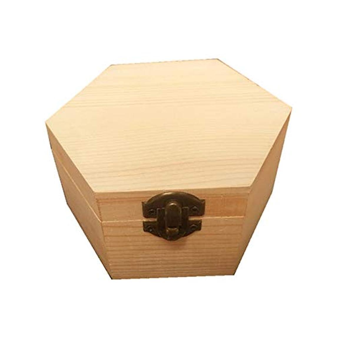 裸候補者ビヨン手作りの木製ギフトボックスパーフェクトエッセンシャルオイルケースにエッセンシャルオイル アロマセラピー製品 (色 : Natural, サイズ : 13X11.3X6.8CM)
