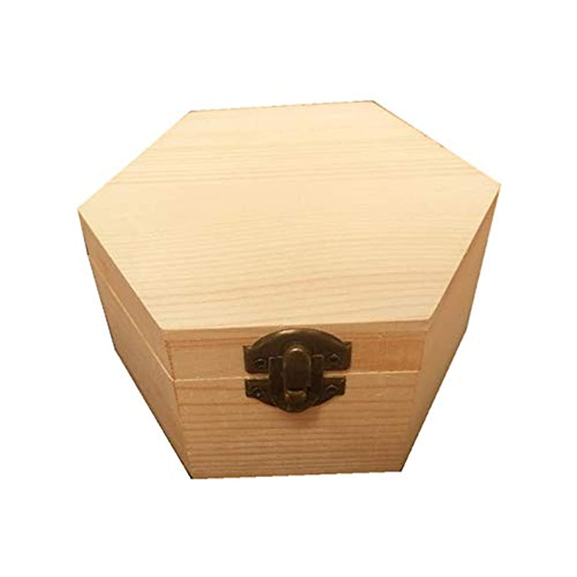 海港プログレッシブ定義手作りの木製ギフトボックスパーフェクトエッセンシャルオイルケースにエッセンシャルオイル アロマセラピー製品 (色 : Natural, サイズ : 13X11.3X6.8CM)