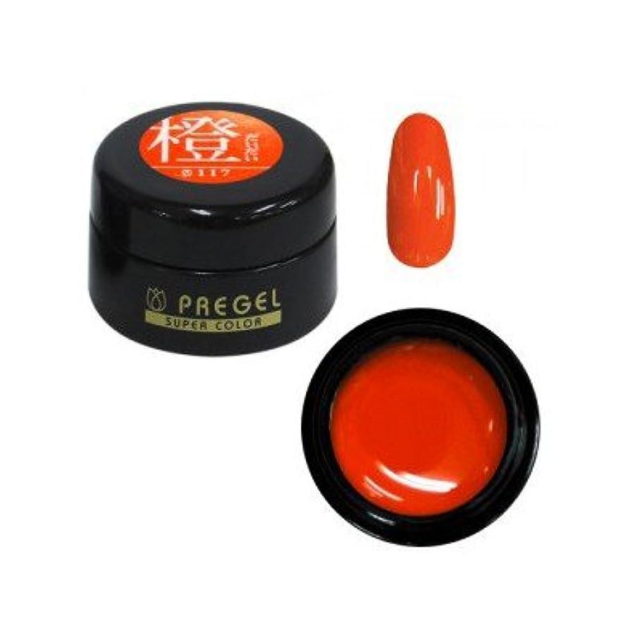 虹覗く優雅なプリジェル カラーEX 橙 PG-CE117 4g