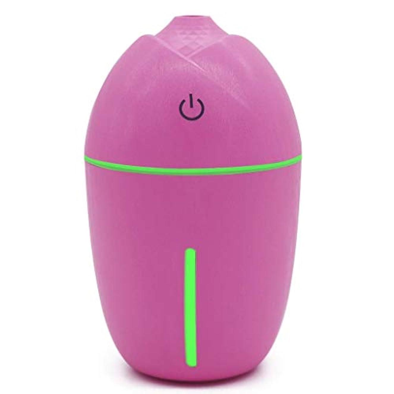 属性バウンドキャンバス180ミリリットルミニアロマエッセンシャルオイルディフューザー、usb超音波クールミスト加湿器付きledナイトライト用オフィスホームリビングルーム研究ヨガスパ (Color : ピンク)