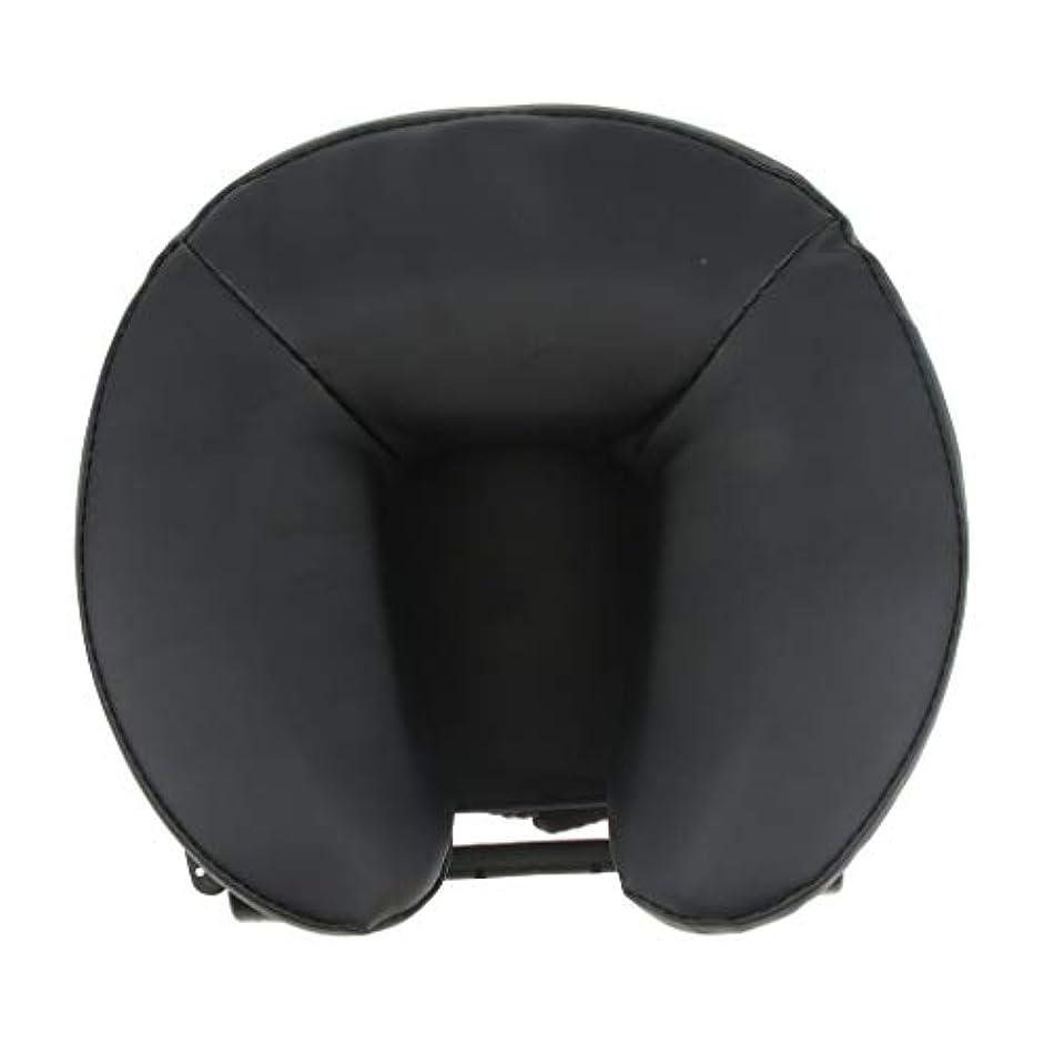 派生する罪悪感アブストラクトFLAMEER U型 PUレザーカバー マッサージ用クッション 胸当てマクラ 顔枕 首枕 使いやすい 2色選ぶ - ブラック