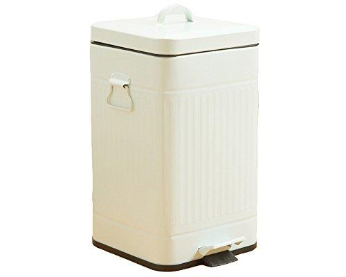 スチールペダルペール 5L用『FTC023』【ITGL-tm】角型・ホワイト(#9810625) 蓋付き ゴミ箱
