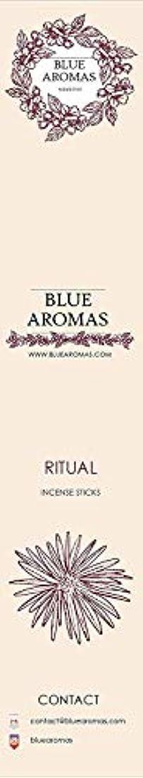 一元化する苦しめる奇跡的なBlue Aromas Ritual Incense Sticks Agarbatti |Pack of 8, 10 Sticks in Each Pack Incense | Export Quality