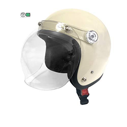 COMMENCER バイクヘルメット ジェット バブルビーハーフ フリーサイズ(57cm~60cm未満) (アイボリー, フリーサイズ)