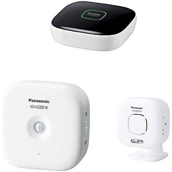Panasonic スマ@ホーム ホームユニット KX-HJB1000-W + 人感センサー 他1点セット