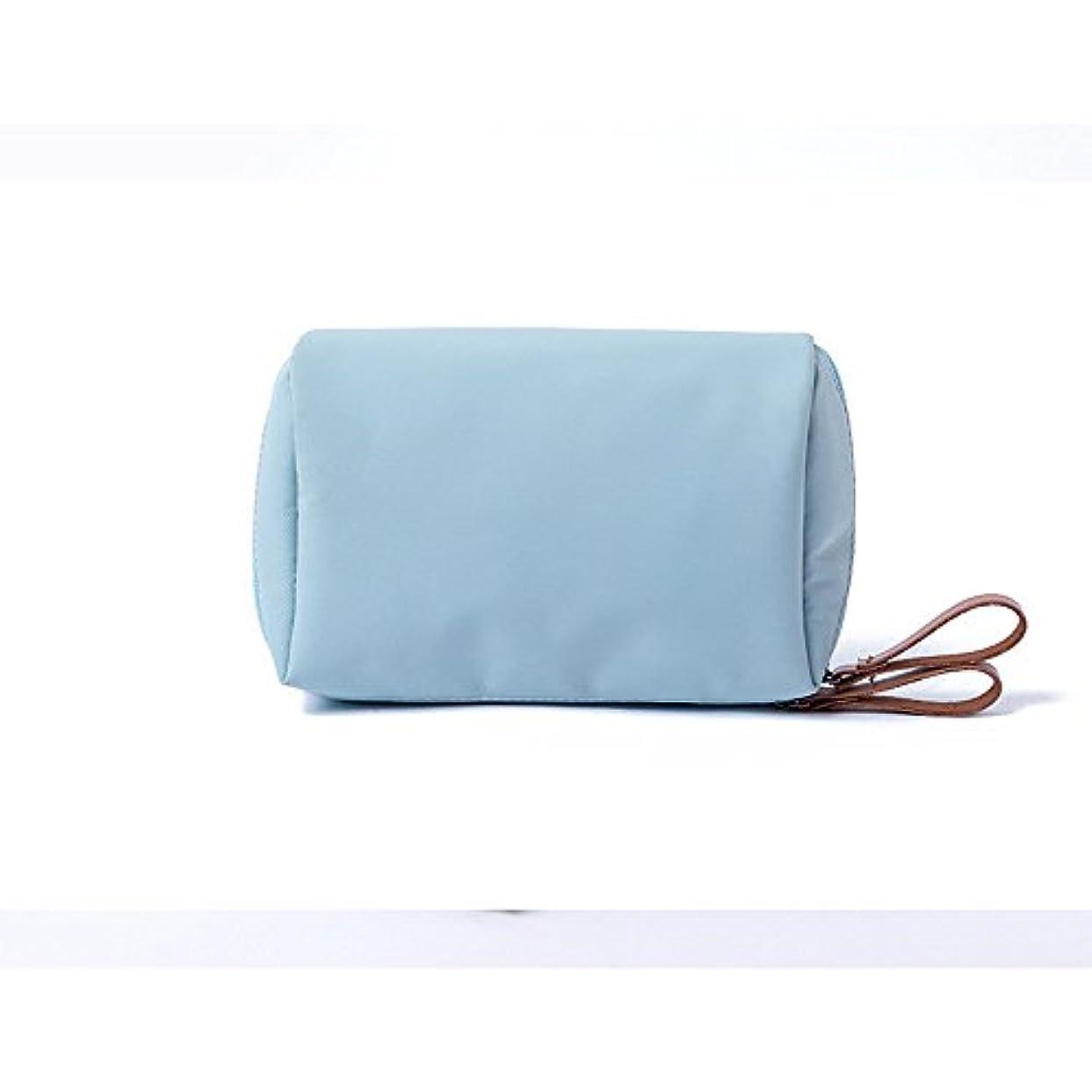 ダンスオプショナル渦MOCOFO 無地の化粧ポーチ コスメポーチ小物入れ ペンケース ブルー 大容量レディバニティバッグ