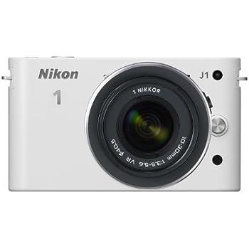 Nikon ミラーレス一眼カメラ Nikon 1 (ニコンワン) J1 (ジェイワン) 標準ズームレンズキット ホワイトN1 J1HLK WH