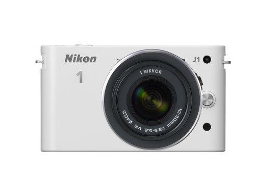 Nikon ミラーレス一眼カメラ Nikon 1  ニコンワン  J1  ジェイワン  標準ズームレンズキット ホワイトN1 J1HLK WH