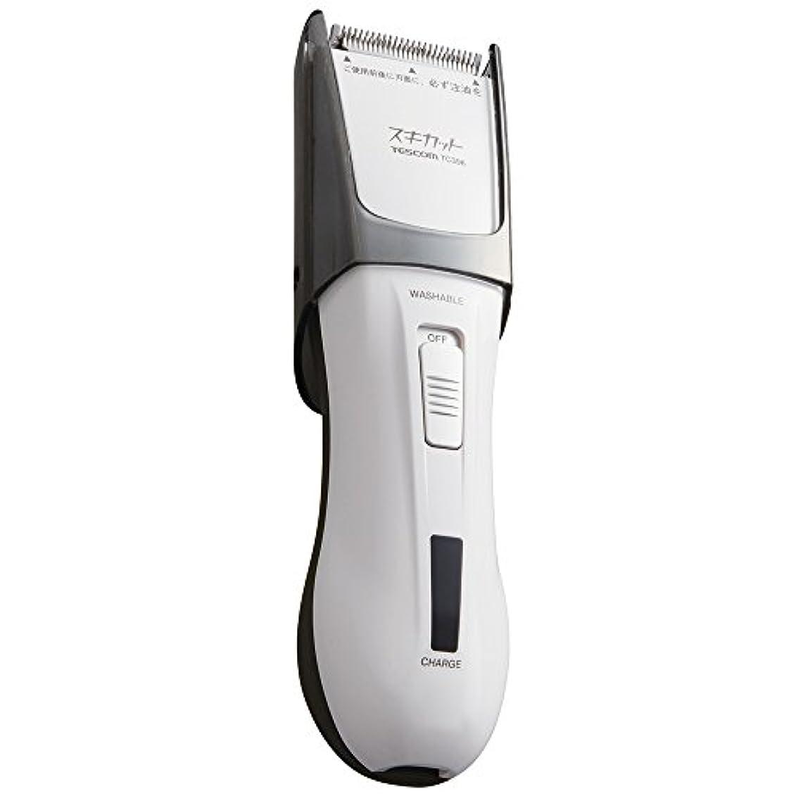登場関与するスイッチTESCOM スキカット 電気バリカン ホワイト TC396-W
