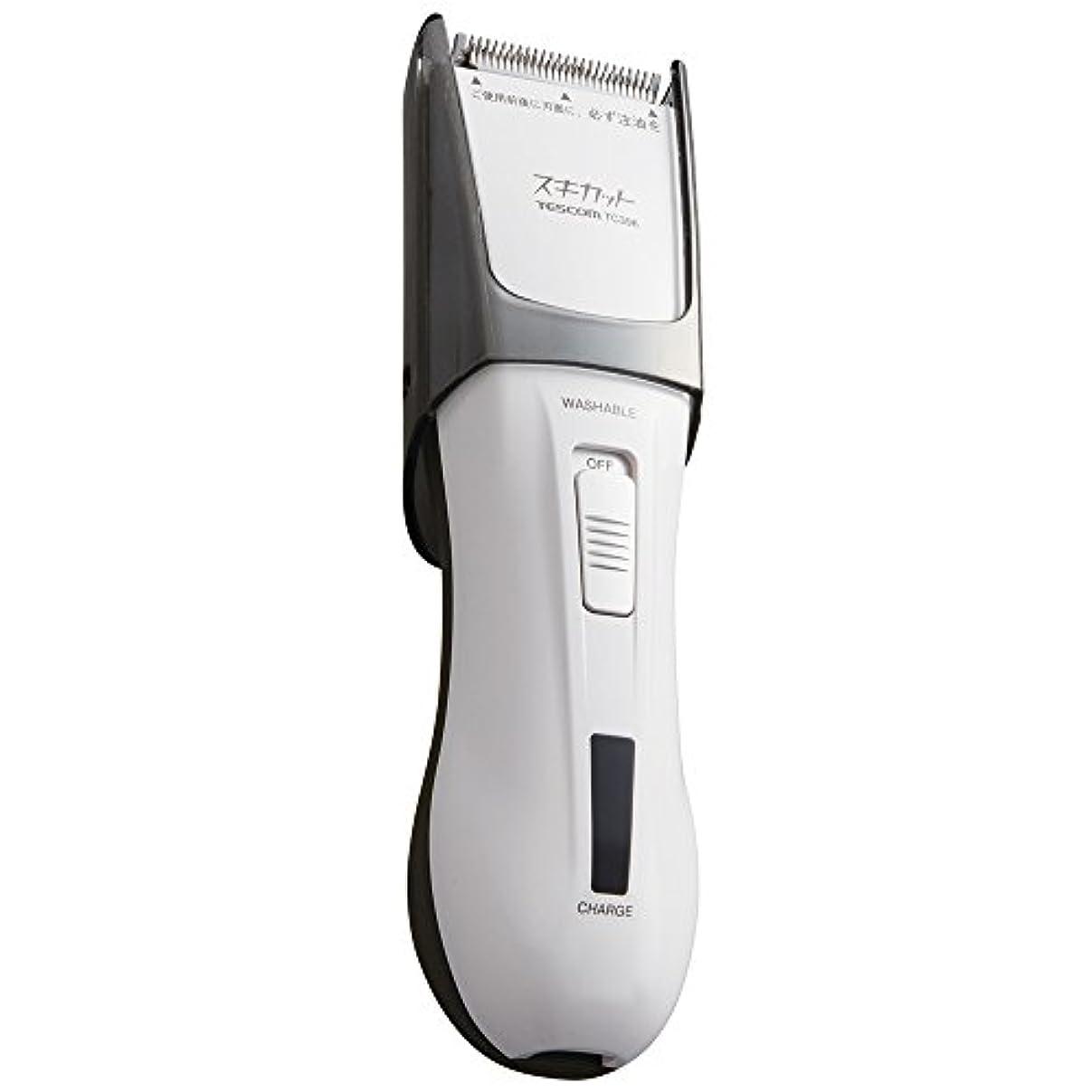 筋潜む単にTESCOM スキカット 電気バリカン ホワイト TC396-W