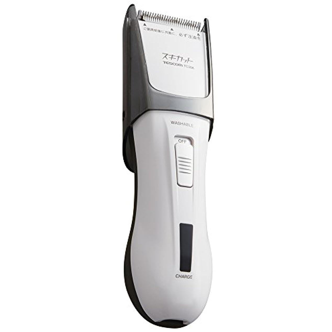 図書館賠償マイクロプロセッサTESCOM スキカット 電気バリカン ホワイト TC396-W