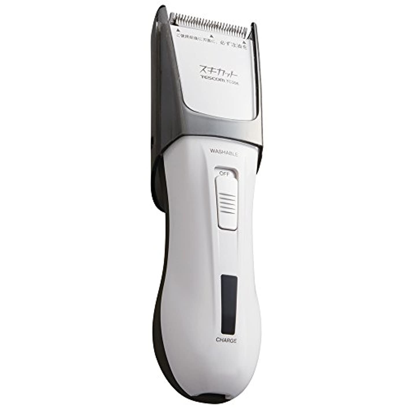 滑りやすい批評マウスピースTESCOM スキカット 電気バリカン ホワイト TC396-W