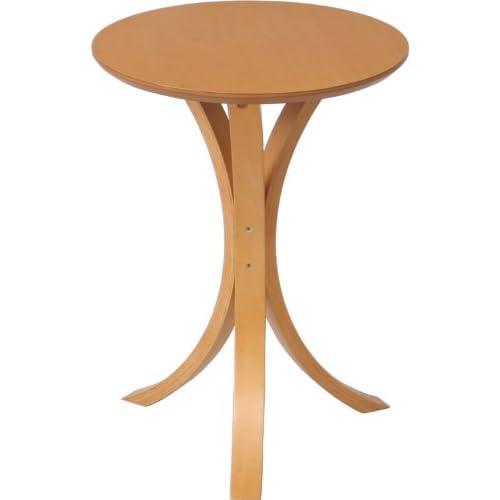 不二貿易 サイド テーブル ナチュラル CF-913 天板直径40cm 79084