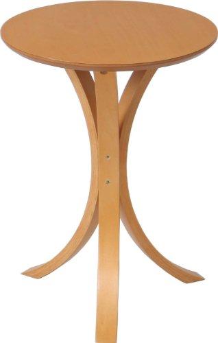 不二貿易 サイドテーブル 直径40×高さ54cm ナチュラル 79084