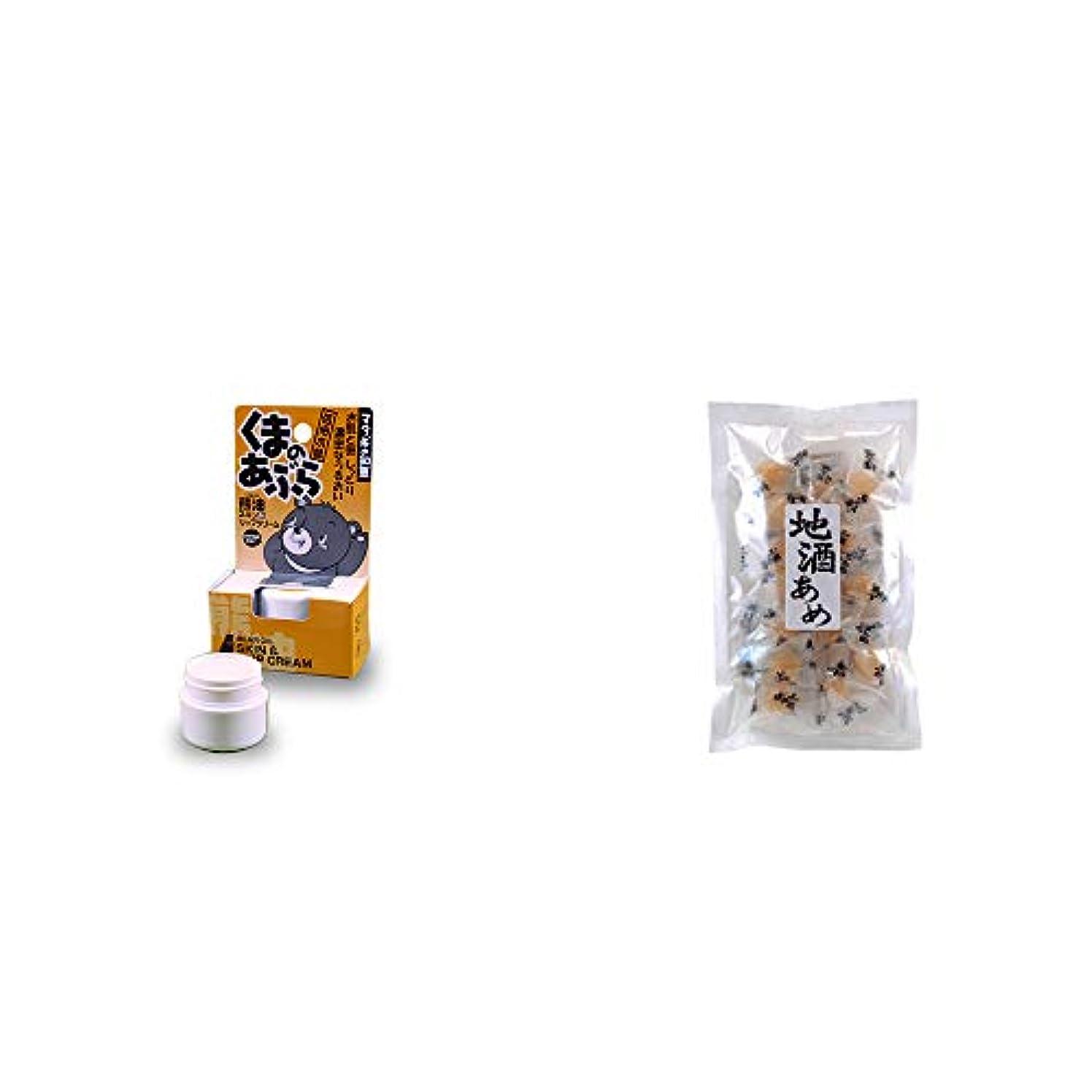 ノートフローティングモバイル[2点セット] 信州木曽 くまのあぶら 熊油スキン&リップクリーム(9g)?地酒あめ(15粒)