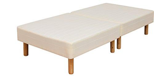 ottostyle.jp 脚付きマットレス 脚高25㎝ ボンネルコイル 【シングル】 幅97cm 分割式で移動楽々 収納ボックスが置ける マットレスベッド ベッド下収納可