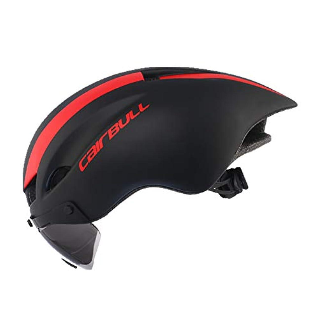 軽蔑重力テキストTT Racing自転車用ヘルメット、安全用自転車用ヘルメット、男性用マウンテンバイク自転車用MTB保護機器用、ゴーグル/ミラー/レンズ付き軽量サイクリングヘルメット