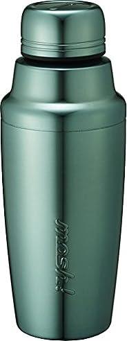 水筒 真空断熱 スクリュー式 シェイカー ボトル 0.35L ミラーブルー mosh! (モッシュ!) DMSH350BL