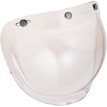オージーケーカブト(OGK KABUTO) ジェットヘルメット用 ワイドバブルシールド フラッシュミラー クリア (WB-FCL)