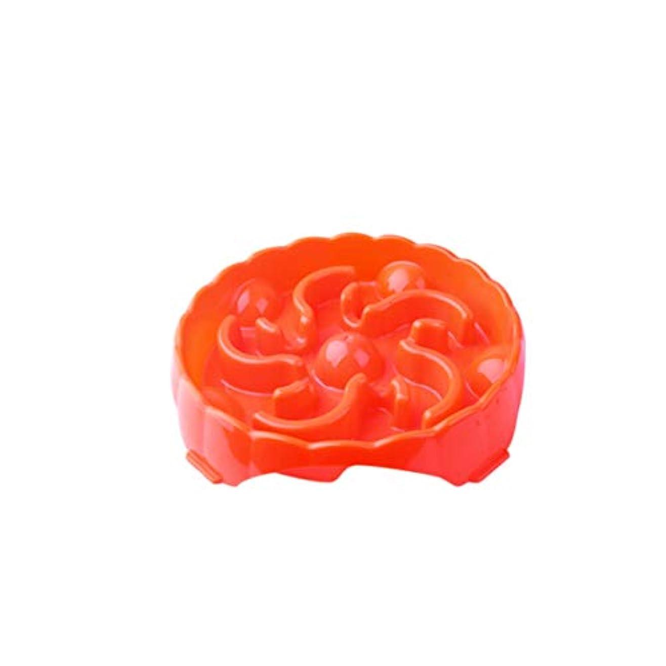 建てる不足前件Xian ペットスローフードボウル、ぬいぐるみボウル、犬ポット、猫ポット、犬のボウル、猫のボウル、猫の食器ボウル、犬の食器ボウル、犬の飲み物の泉、猫のライスボウル、小型フードディッシュ、オレンジ Easy to Clean Non-Skid Bowls for Dogs (Color : Orange)
