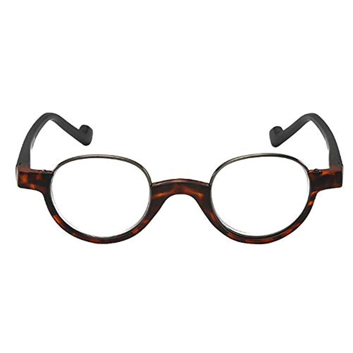 高精細老眼鏡は耐紫外線性と抗疲労性です、 携帯用折りたたみ老眼鏡、男性と女性のレトロ樹脂老眼鏡、春に蝶番を付けられた超薄型ラウンドフレームメガネ