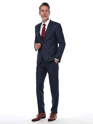 (ヒューゴ ボス) HUGO BOSS ジャガード シングル 2ツ釦 スーツ REGULAR FIT [HBJS10206712]ネイビー / 58 [並行輸入品]