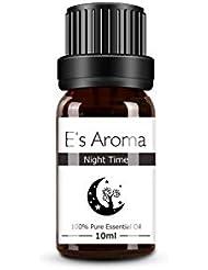 E's Aroma アロマオイル ブレンド 100%純正 エッセンシャルオイル 厳選精油 10ml ナイトタイム