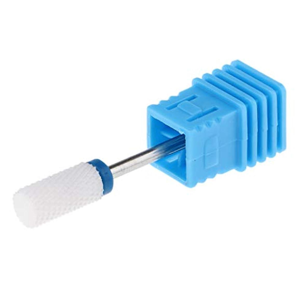 ジュース割る制裁セラミック 研磨ヘッド ネイルドリルビット 電気ネイルマシン マニキュア用 全6選択 - M