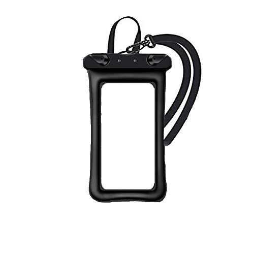 防水ケース スマホ用 IPX8認定 指紋認 防水携帯ケース 6.5インチスマホに対応 タッチ可 水中撮影 潜水 温泉 スキー 水泳など適用 (ブラック)