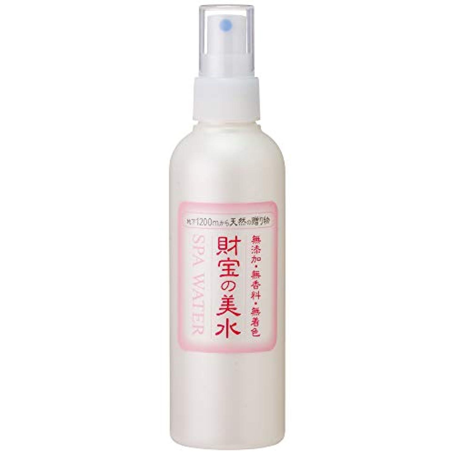 アジャ十分貼り直す財宝 温泉 美水 ミスト 化粧水 200ml