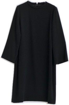 サイズ 36 80.Black [OO181-54009] HARRISS(ハリス) ジョーゼットワンピース