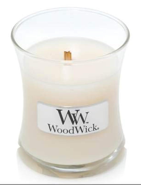 平凡理由不平を言うWoodWick ホワイトハニーミニ砂時計香り付きジャーキャンドル