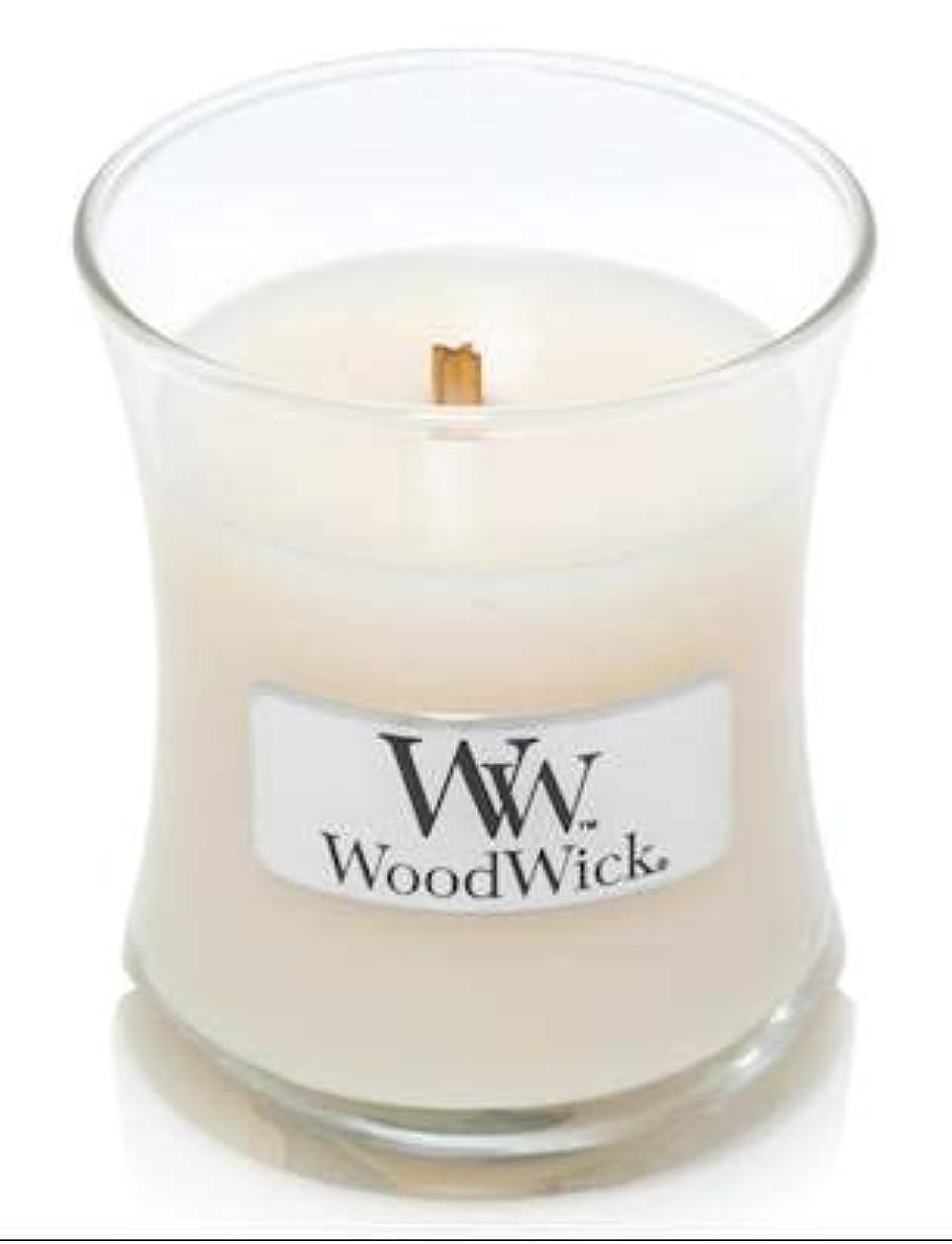 WoodWick ホワイトハニーミニ砂時計香り付きジャーキャンドル