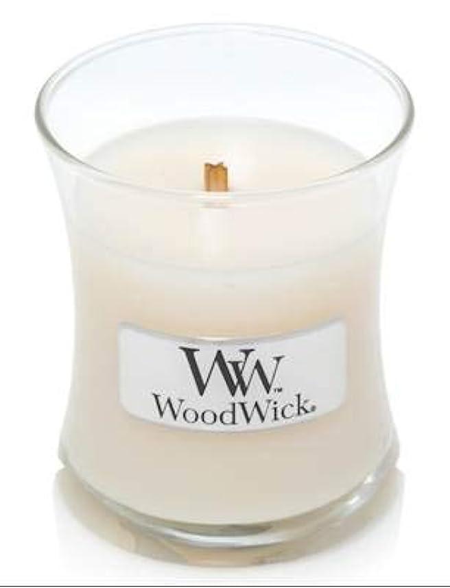 セレナオーストラリア人介入するWoodWick ホワイトハニーミニ砂時計香り付きジャーキャンドル