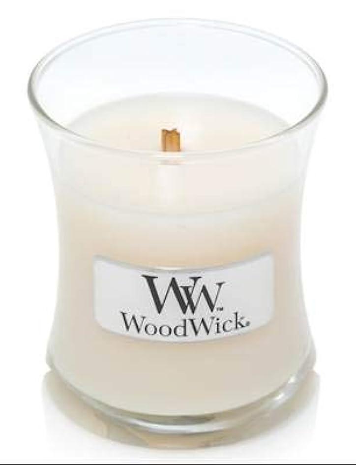 脱獄いろいろ叫び声WoodWick ホワイトハニーミニ砂時計香り付きジャーキャンドル