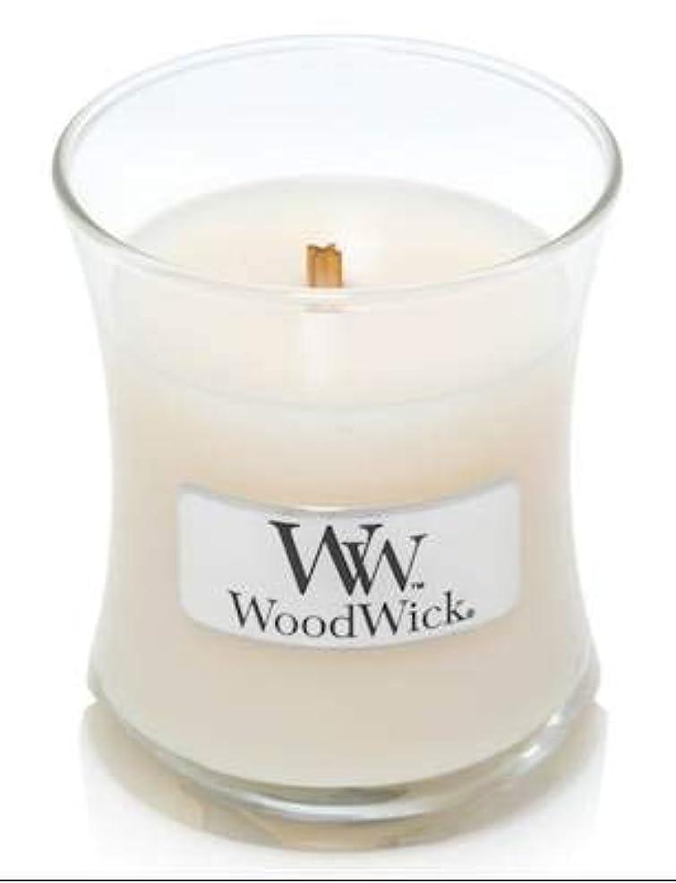 階層樫の木マイナスWoodWick ホワイトハニーミニ砂時計香り付きジャーキャンドル