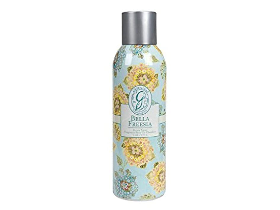 独立頑丈藤色GREENLEAF ROOM SPRAY BELLA FREESIA