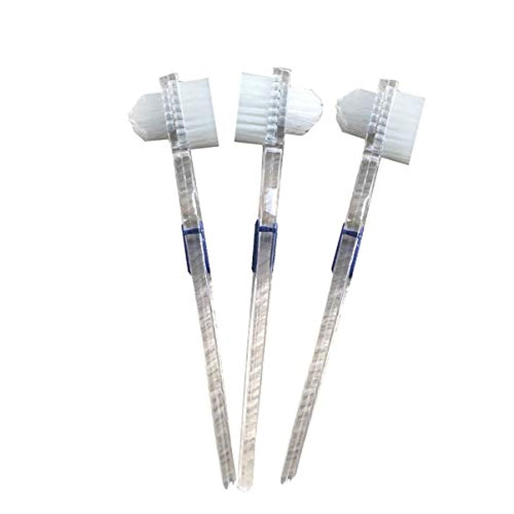 漂流ライドデンプシーHealifty 二重毛ヘッド義歯ブラシセット義歯ケア9pcsの歯のクリーニングツール
