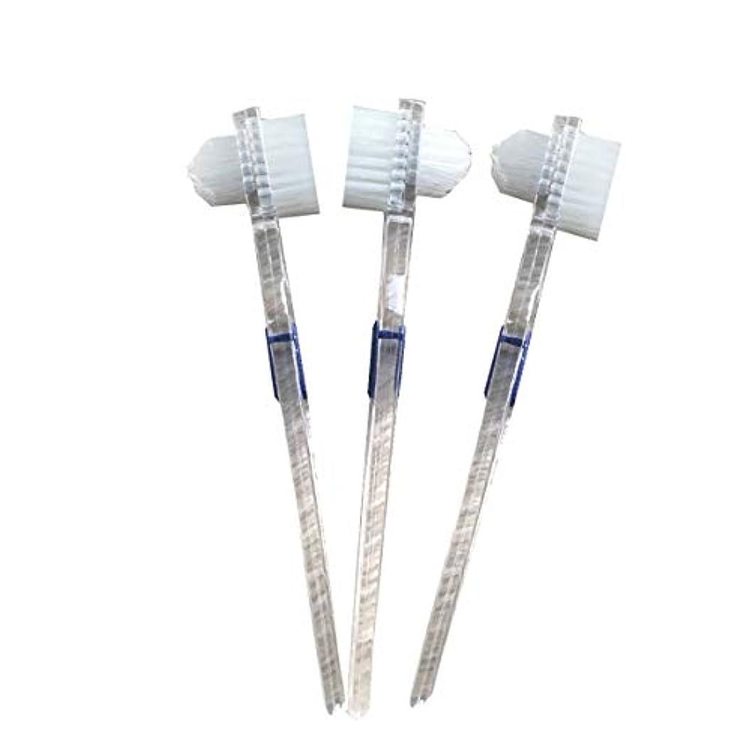 追い払うリラックスした閉塞Healifty 二重毛ヘッド義歯ブラシセット義歯ケア9pcsの歯のクリーニングツール