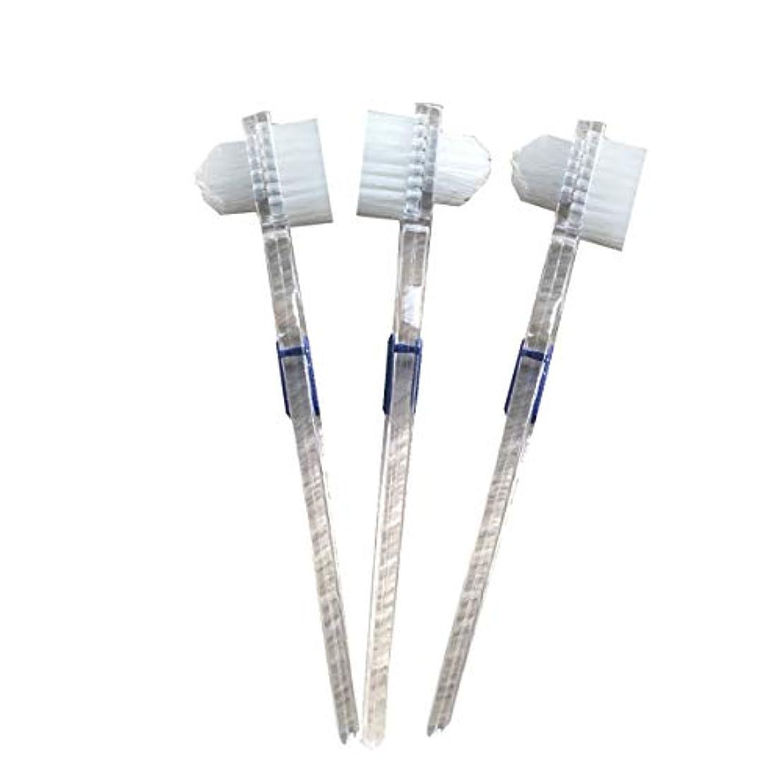 検出器粒ヤギHealifty 二重毛ヘッド義歯ブラシセット義歯ケア9pcsの歯のクリーニングツール