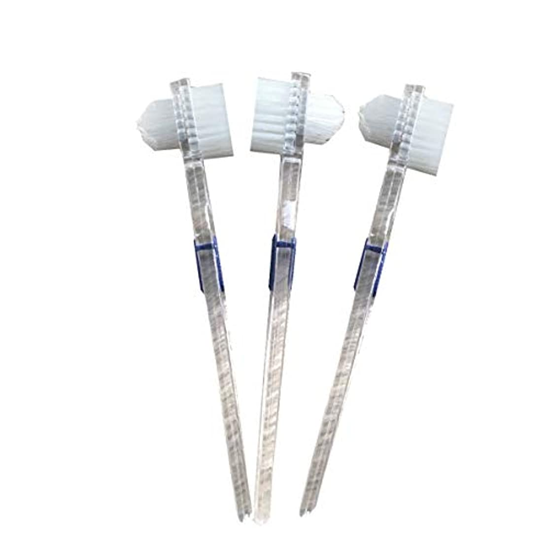 銅第四器官Healifty 二重毛ヘッド義歯ブラシセット義歯ケア9pcsの歯のクリーニングツール