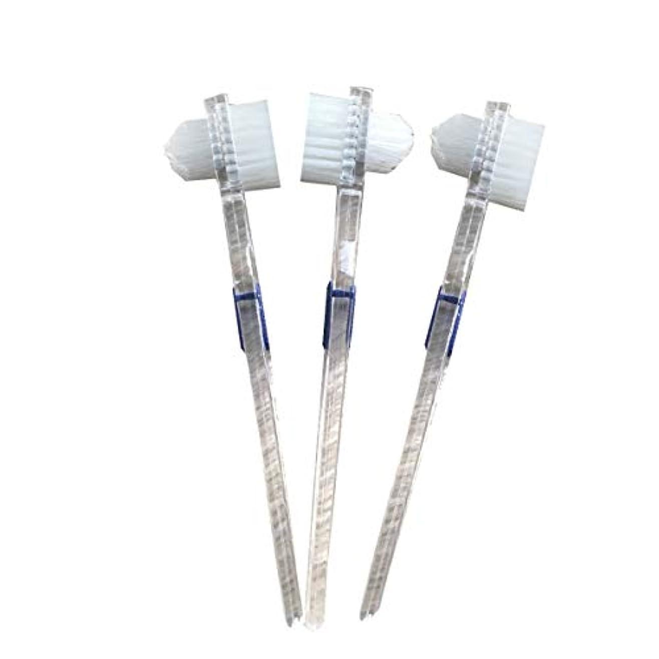 良性自然公園神秘的なHealifty 二重毛ヘッド義歯ブラシセット義歯ケア9pcsの歯のクリーニングツール
