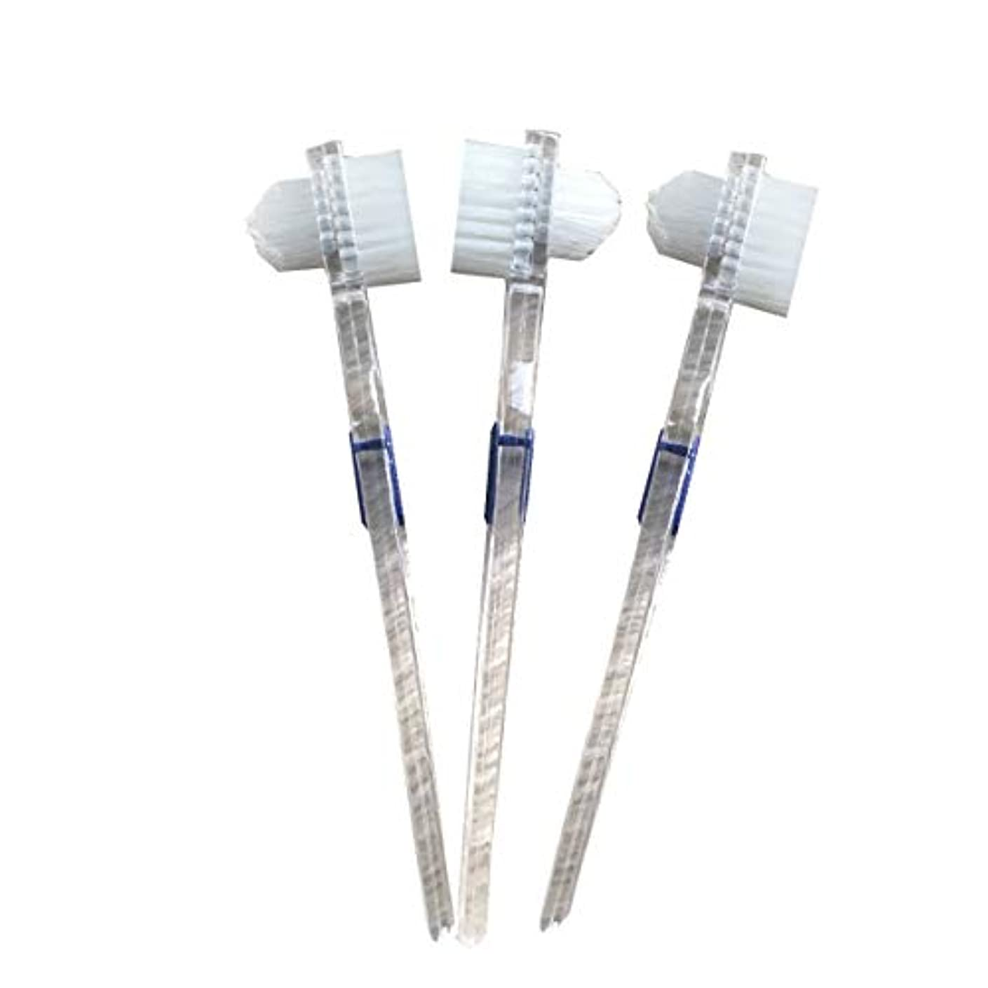 センチメートル風が強い建築Healifty 二重毛ヘッド義歯ブラシセット義歯ケア9pcsの歯のクリーニングツール