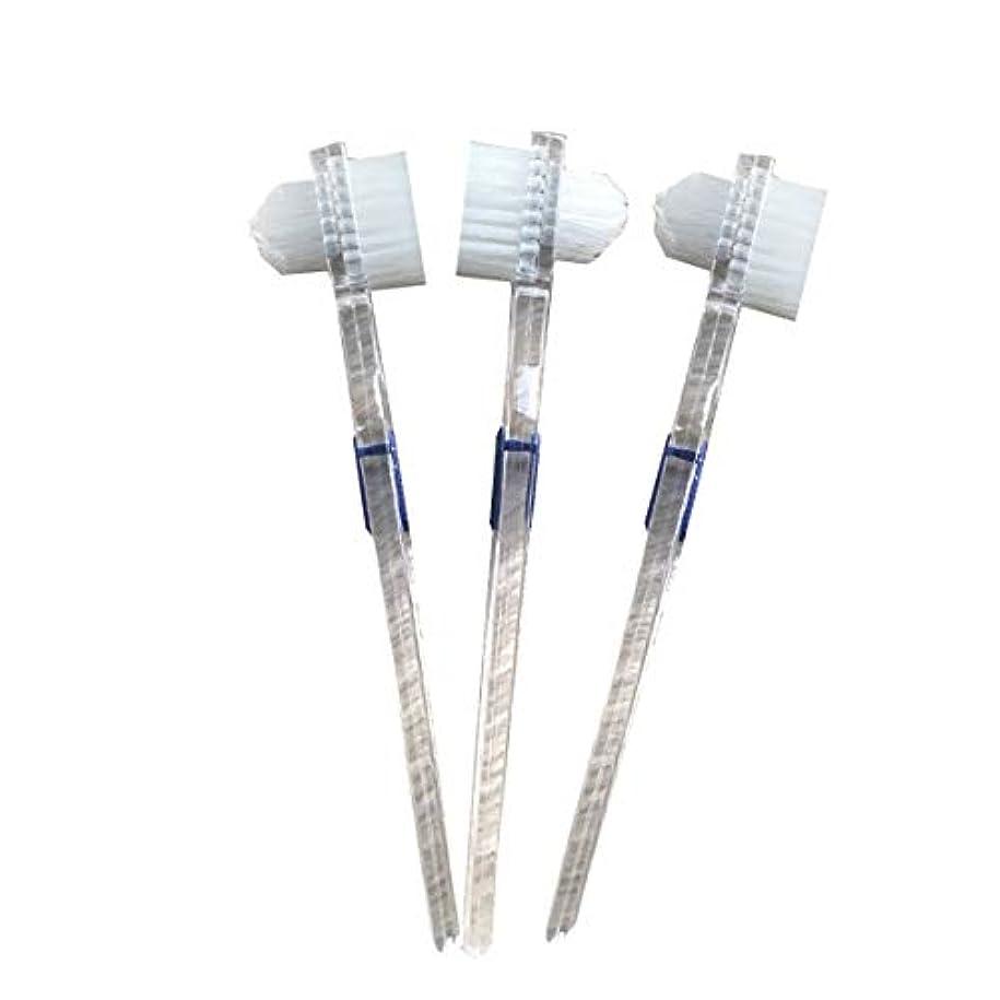 ステレオタイプ大騒ぎ神学校Healifty 二重毛ヘッド義歯ブラシセット義歯ケア9pcsの歯のクリーニングツール
